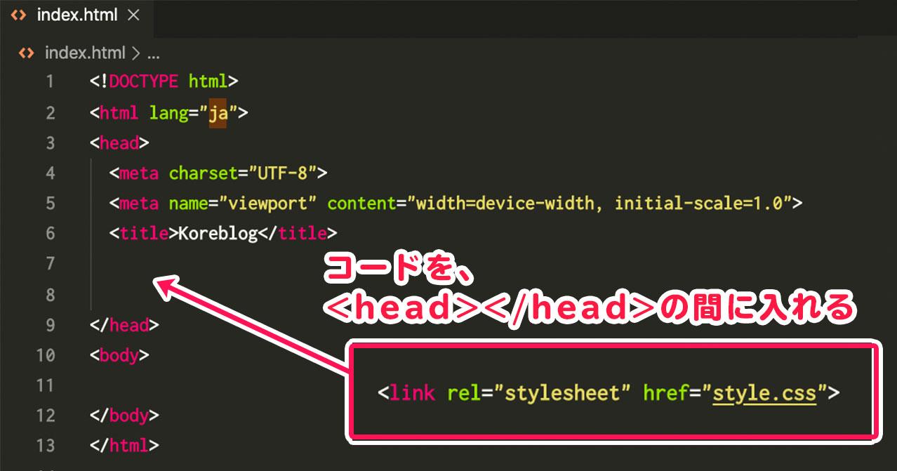 CSSリンクの挿入
